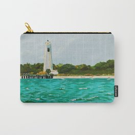 Egmont Key Lighthoues Painting Carry-All Pouch