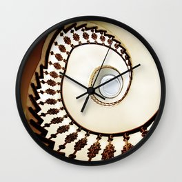 Spiral staircase in warm colours Wall Clock