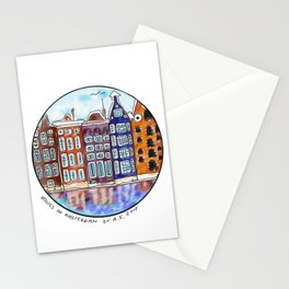 Houses in Amsterdam Stationery Cards