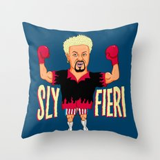 Sly Fieri Throw Pillow