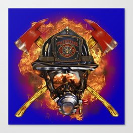 Firefighter rescue volunteer Canvas Print