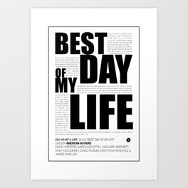 Best day Art Print