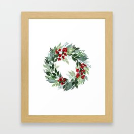 Holly Berry Framed Art Print