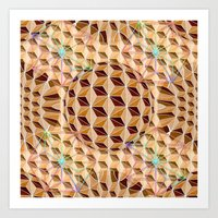 Geodesic Asanoha (Wooden) Art Print