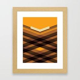 Brown Stripes Framed Art Print