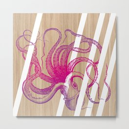 Octopus vulgaris Metal Print