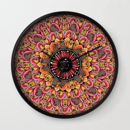 Pug Yoga Mandala Wall Clock