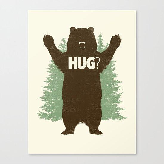 Bear Hug? Canvas Print