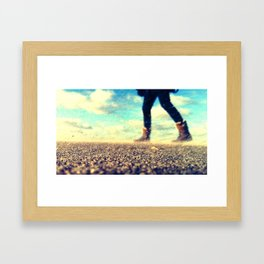 Windy beach Framed Art Print