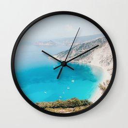 Myrtos Beach Wall Clock
