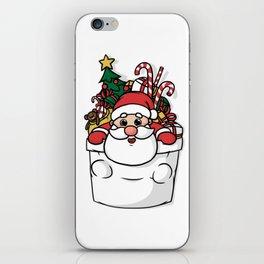 Cute Pocket Santa iPhone Skin