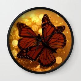 Monarch Butterflies... Wall Clock