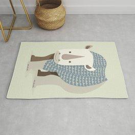 Whimsical Rhinoceros Rug