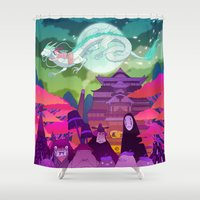 spirited away Shower Curtains featuring Spirited Away by Jen Bartel