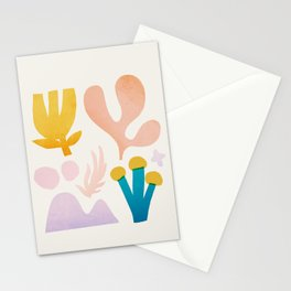 Abstraction_Floral_Coral Stationery Cards