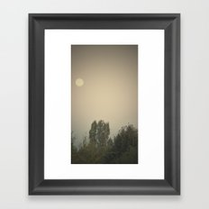 the dry moon Framed Art Print