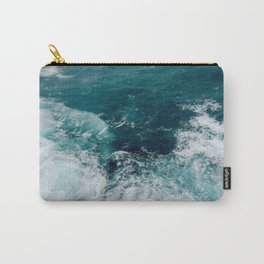 Ocean Waves (Teal) Carry-All Pouch