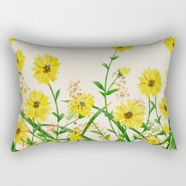 Yellow Wildflowers Rectangular Pillow