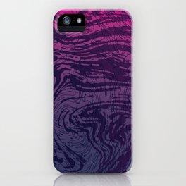 Ultra Violet Marbeling iPhone Case