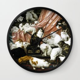 My Wife's Lovers by Carl Kahler Wall Clock