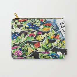 Watercolor Primroses on Wrinkled Paper Carry-All Pouch