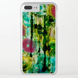 Spinning Wheels Clear iPhone Case