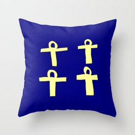Ankh- crux ansata 7 Throw Pillow