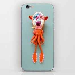 Anatomy of Small Ear Squid & Deep Water Clams iPhone Skin