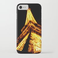eiffel tower iPhone & iPod Cases featuring Eiffel Tower by Fimbis