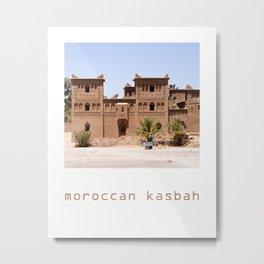 Moroccan kasbah Metal Print