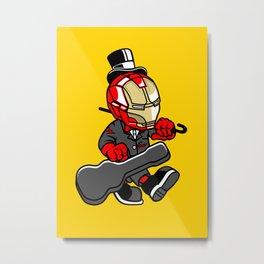 Iron Gentleman - Illu from Dan Roach Metal Print