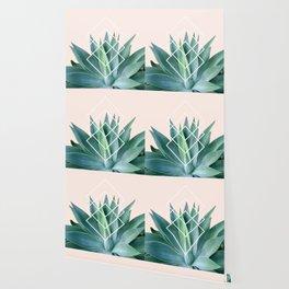 Agave geometrics - peach Wallpaper