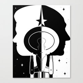 Captain and Commander Canvas Print