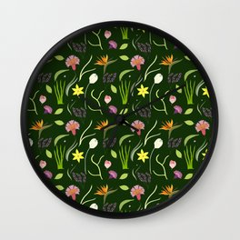 Nocturnal Spring Fantasy Wall Clock