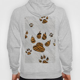 Tiger Paws on Stripes Hoody