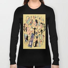 1950's Beatnik Style Long Sleeve T-shirt