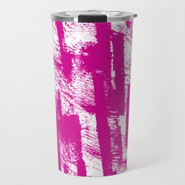 Hand painted  pink watercolor brushtrokes splatters pattern Travel Mug