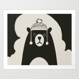 Bear illustration for kids Art Print