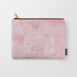 Pink rose fuscia batic look Carry-All Pouch