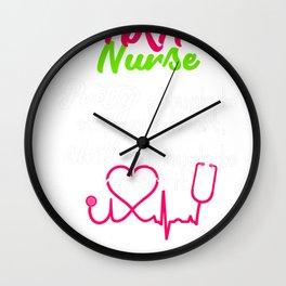 AKA Nurse Shirt Pretty Gift for LNP RN and Nurse Day Wall Clock
