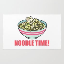 I Love Noodle Kawaii Artwork Rug