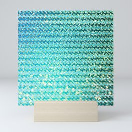 Mermaid Waves and Sea Foam, Sun Light over the Ocean Mini Art Print