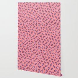 Girl Power Pattern in Pink Wallpaper