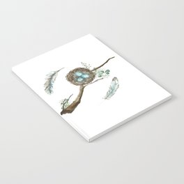 Nest Eggs and Feathers Notebook