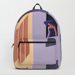The Blue Hat Girl / Sunset Backpack