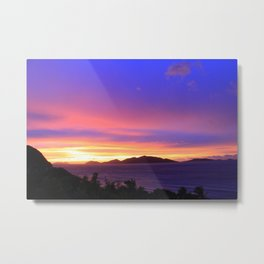 Tortola Sunset Metal Print
