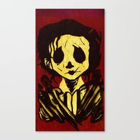 edward scissorhands Canvas Prints featuring Edward Scissorhands by Jide