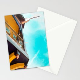 Travel photography Chinatown Los Angeles VII Temple side detail Stationery Cards