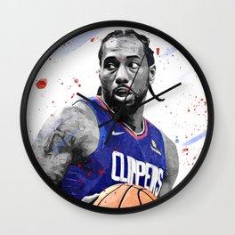 Kawhi Leonard Basketball Print Basketball Wall Art Basketball Poster Basketball Wall Decor Poster Wall Clock