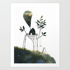 Tiny Tree House Art Print